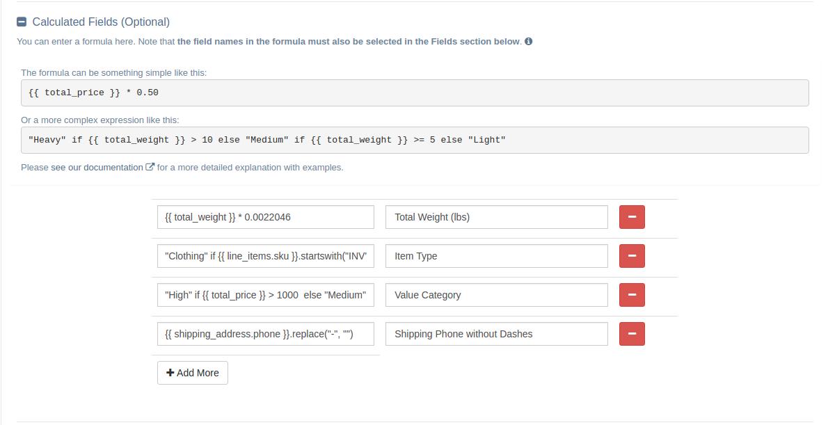 EZ Exporter Shopify App - Custom Data Exports - Calculated Fields