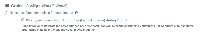Ignore Order Name During Import