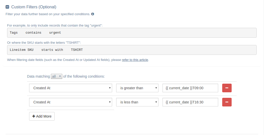 EZ Exporter for Shopify: Custom Date Filters