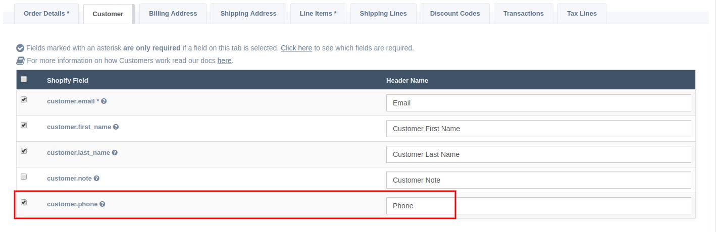 Customer Phone Data Mapping