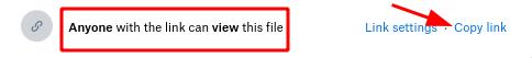 Dropbox - Link sharing