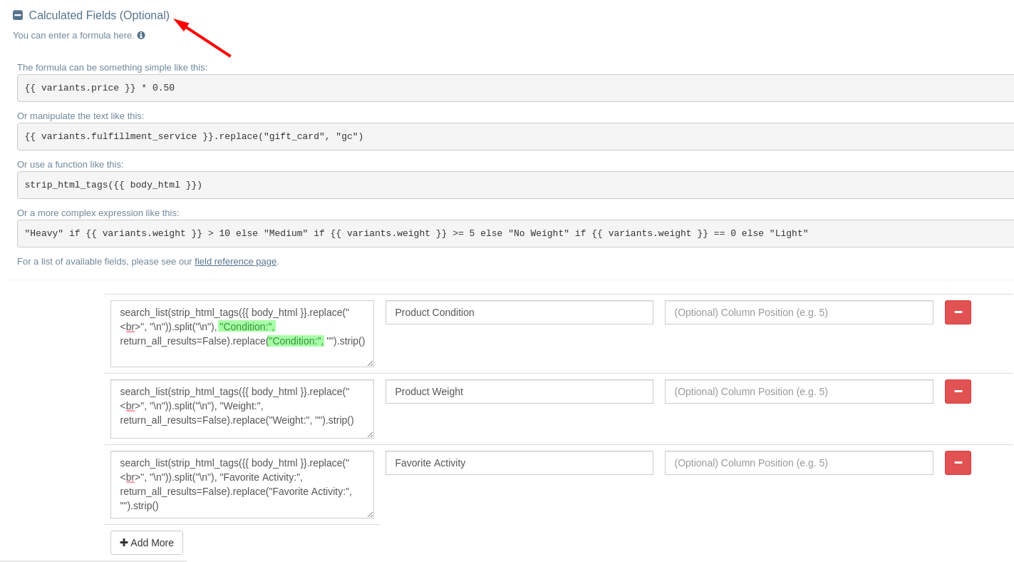 EZ Exporter - Extract product attributes from Shopify product description