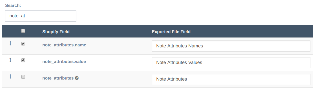 EZ Exporter - Note Attributes Fields