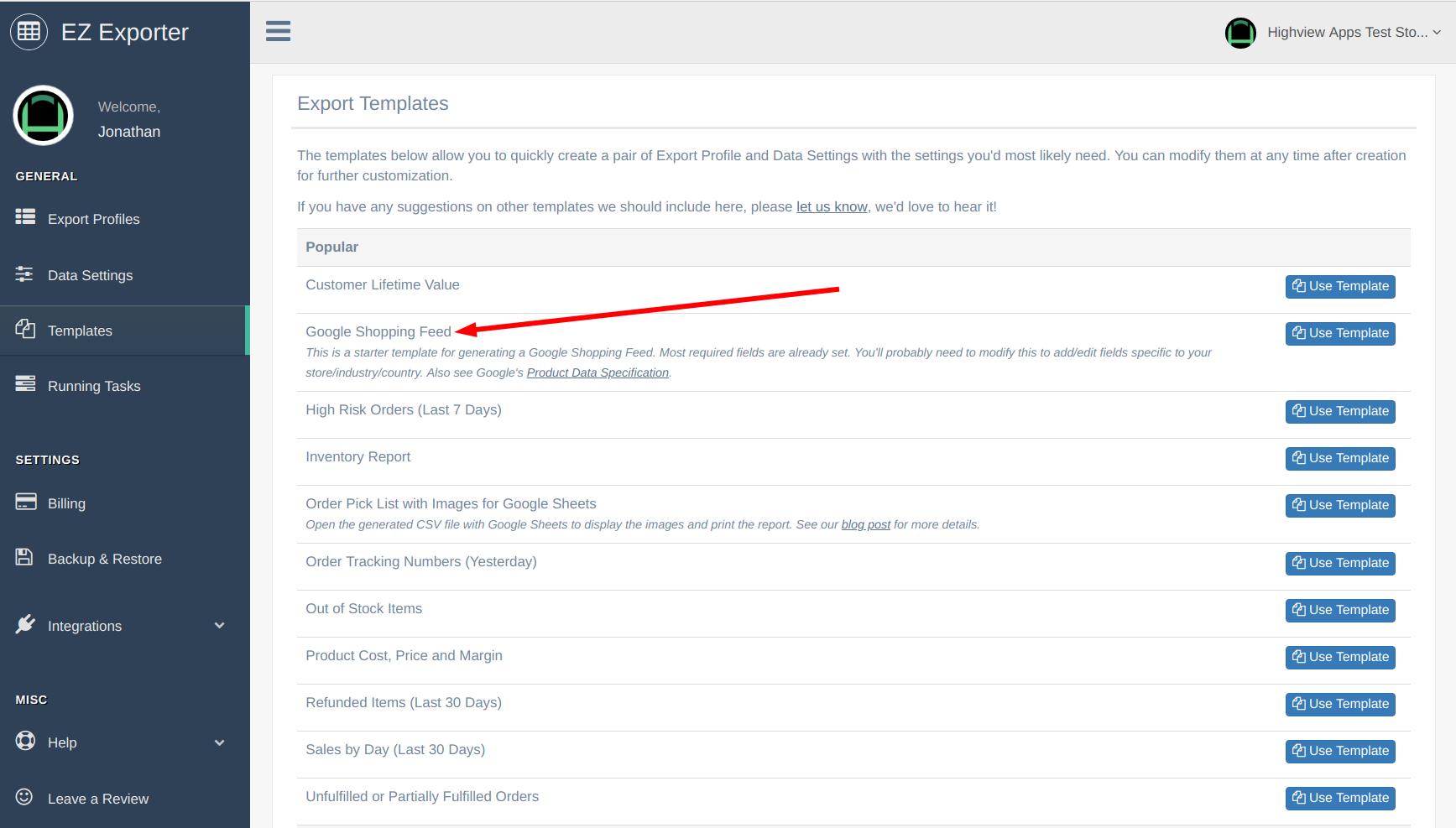 EZ Exporter - Shopify CSV Exporter - Google Shopping Feed Template