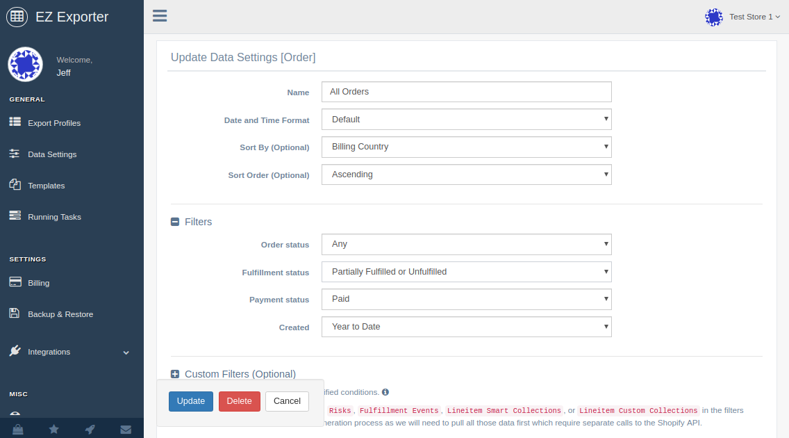 EZ Exporter Custom CSV Exporter for Shopify