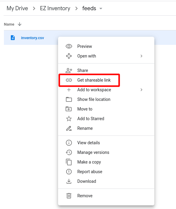 EZ Inventory for Shopify - Google Drive Shareable Link