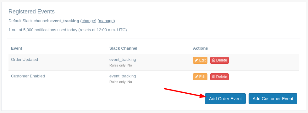 EZ Notify - Add Shopify Events to send to Slack