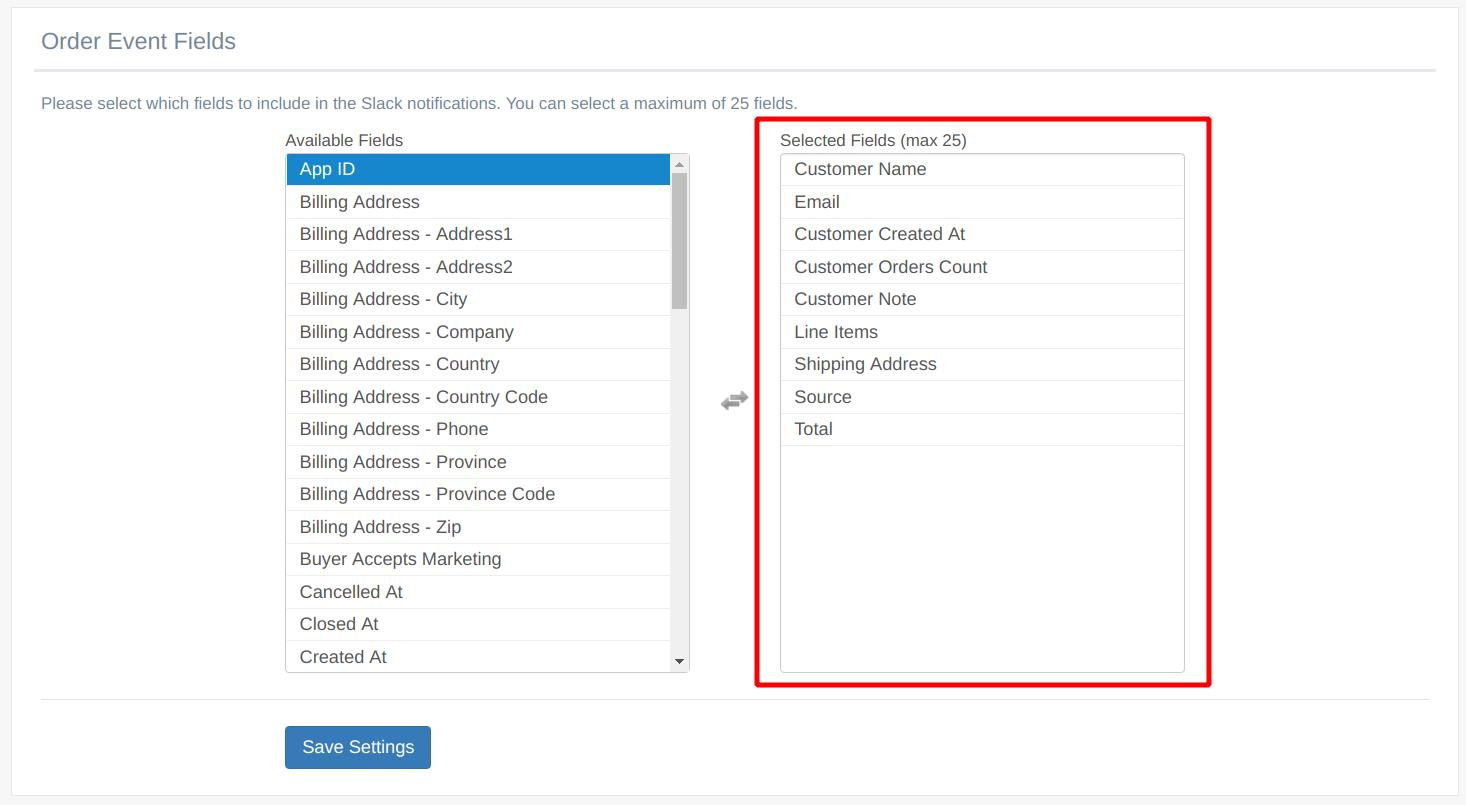 EZ Notify for Shopify - Custom Slack Notification Message