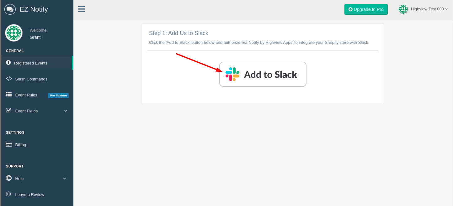 Connect Shopify to Slack with EZ Notify
